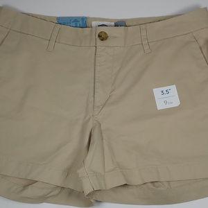 New Old Navy Solid Khaki Shorts Size 8